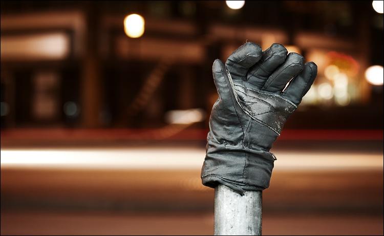 waving glove || canon350d/efs60 | 1s | f3.5 | iso100 | tripod