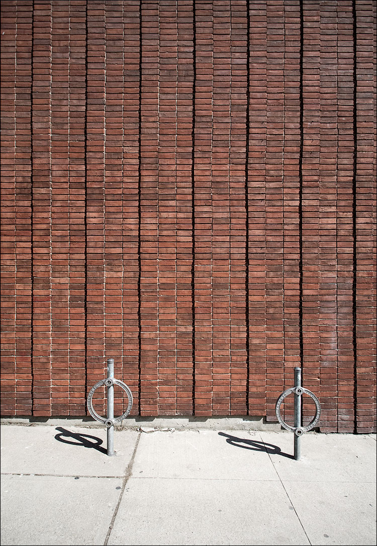 bricks and bike stands || Canon5D/EF17-40L@17 | 1/100s | f7.1 | ISO100 | Handheld