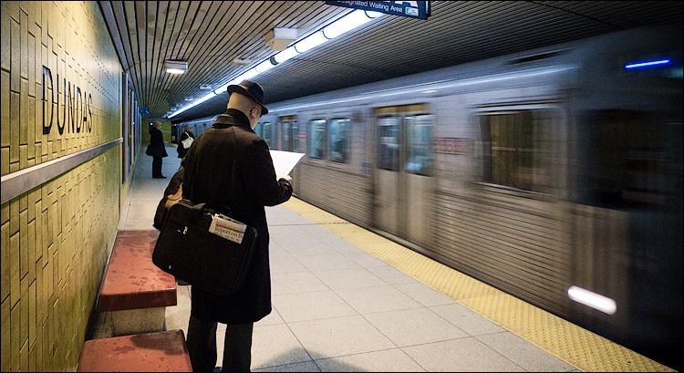 man and train || Panasonic LX3 | 1/30s | f2 | ISO400 | handheld