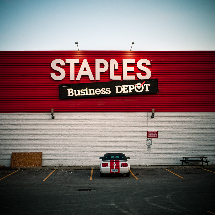 staples and mustang || Panasonic GF1/Pana20f1.7 | 1/200s | f1.7 | ISO100