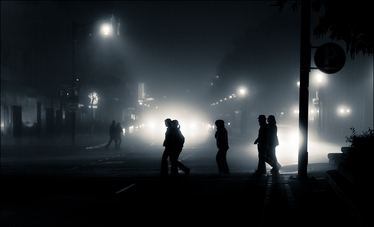 fog walking || Canon5D2/EF85f1.8 | 1/160s | f2.2 | ISO800