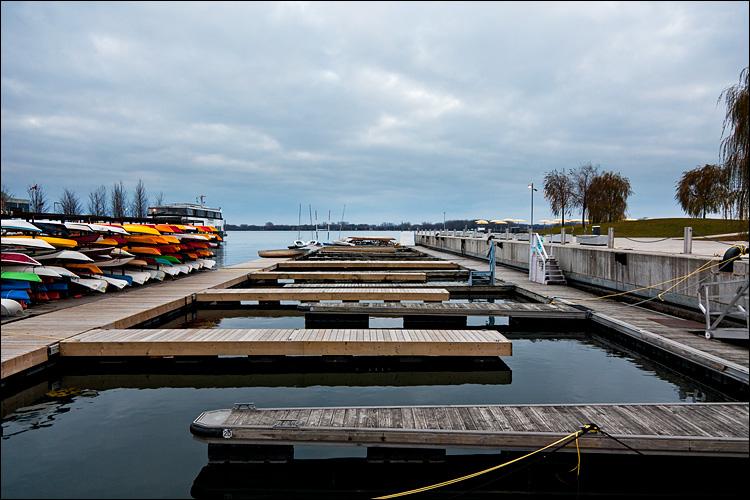 docks and kayaks