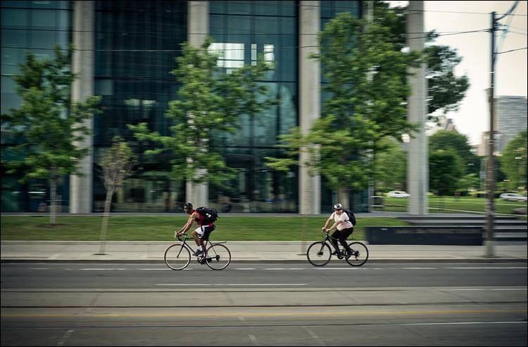 Bikers on College || Panasonic GH2/Lumix14f2.5 | 1/50s | f8 | ISO160