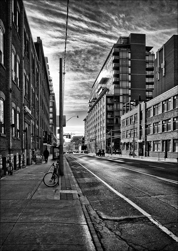 Sherbourne in black and white january 03 2012