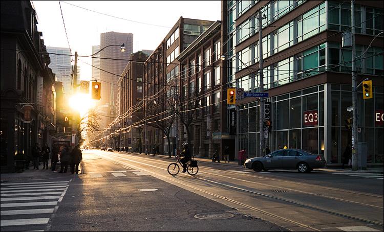 Cyclist at Sunset || Panasonic GX1/Lumix14f2.5 | 1/250s | f5 | ISO160