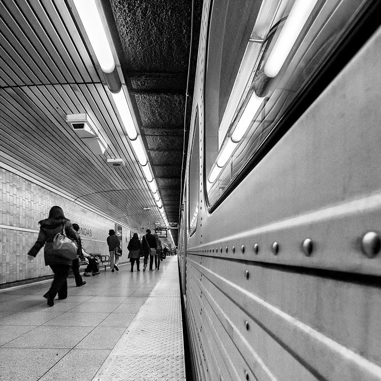 People and Subway Car || Panasonic GX1/Lumix7-14@7 | 1/60s | f4 | ISO1600