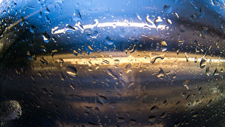 Warped Rain  || PanasonicGX1/Rokinon7.5Fisheye | 2s | ISO160