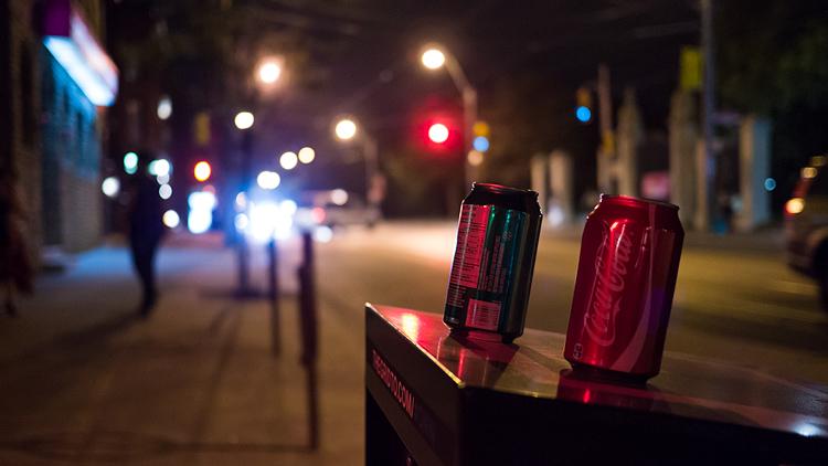 Cans at Night || Panasonic GX1/Lumix20f1.7 | 1/60s | f1.7 | ISO1600