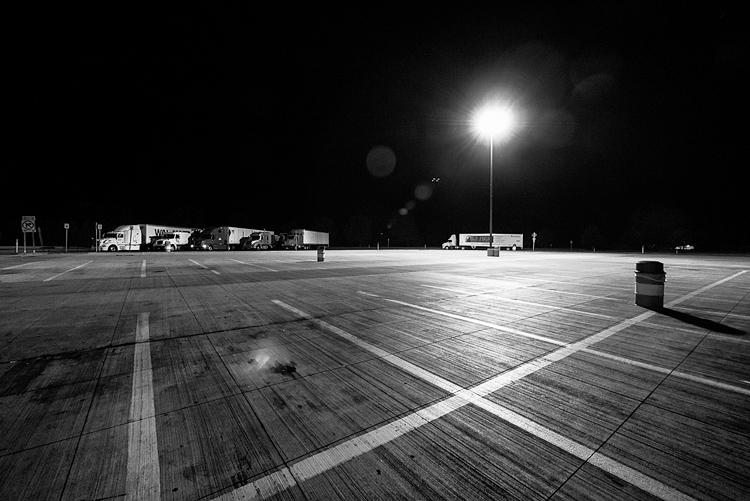 Trucks at Night || Panasonic GX1/Lumix7-14@7 | 1/13s | f4 | ISO1600