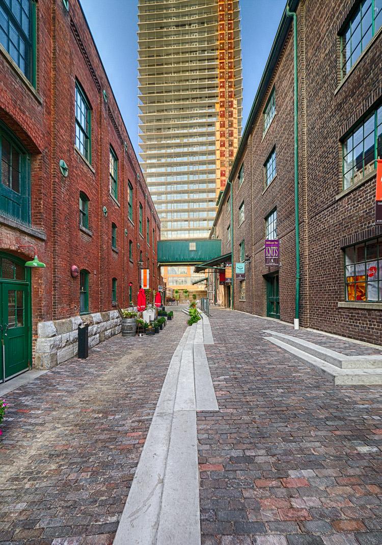 Towered Alley || Panasonic GX1/Lumix7-14@7 | ISO160