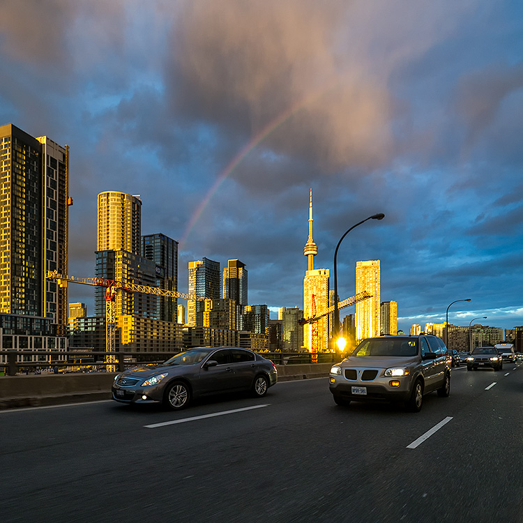 Highway Rainbow || Panasonic Lumix 7-14@7 | 1/60s | f4 | ISO160