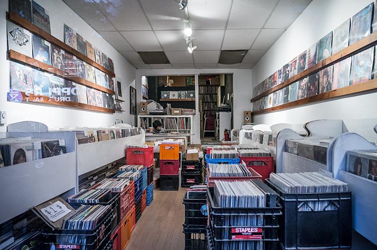 Record Store || Panasonic GX1/Lumix12-24 | 1/60s | f2.8 | ISO500
