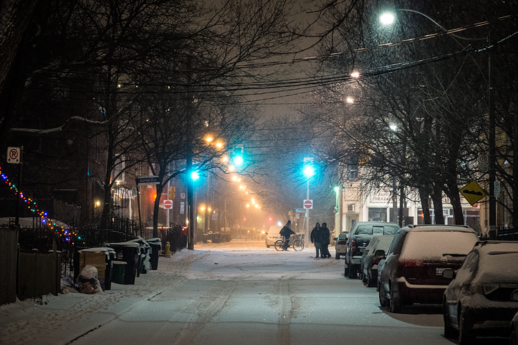 Snowy Night || Panasonic GH3/Olympus 75mm f1.8 | 1/20s | f2.8 | ISO1600