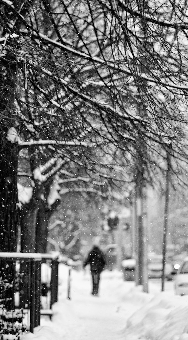 Snow Walker || Panasonic GH3/Olympus75mm | 1/1250s | f1.8 | ISO200
