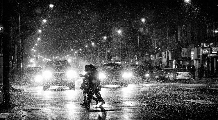 Snowy Street || Panasonic GH3/olympus75mm | 1/160s | f1.8 | ISO1600