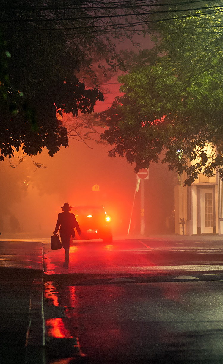 Man in Red Fog || Panasonic GH3/Olympus75mm | 1/50s | f1.8 | ISO1600