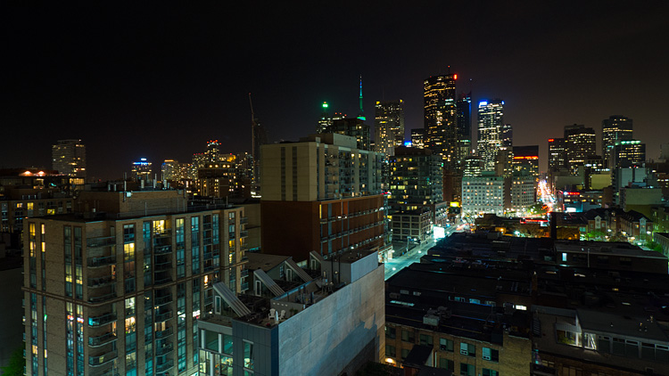 Rooftops and the City || Panasonic GH3/Lumix7-14 | 3s | f6.3 | ISO400