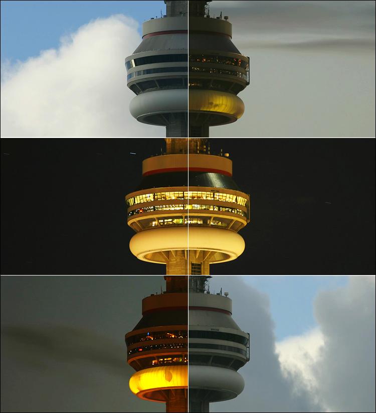 timelapse of cn tower | canon 300d/ ef L 70-200 f4 lens | ISO 100