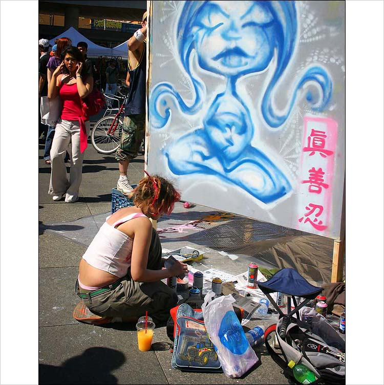 graffiti artists at dundas square || canon 300d