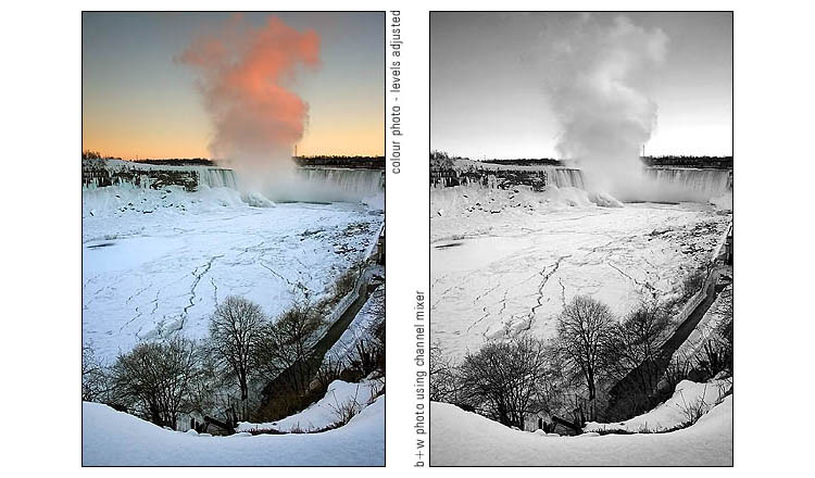 frozen niagara falls | photoshop passes