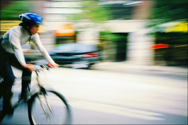 biker with blue helmet || lomo lc-a | fuji superia ISO 200 film