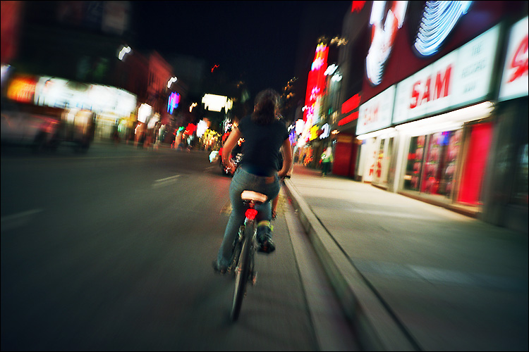 zooming bike || lomo lc-a | Agfa ISO 200