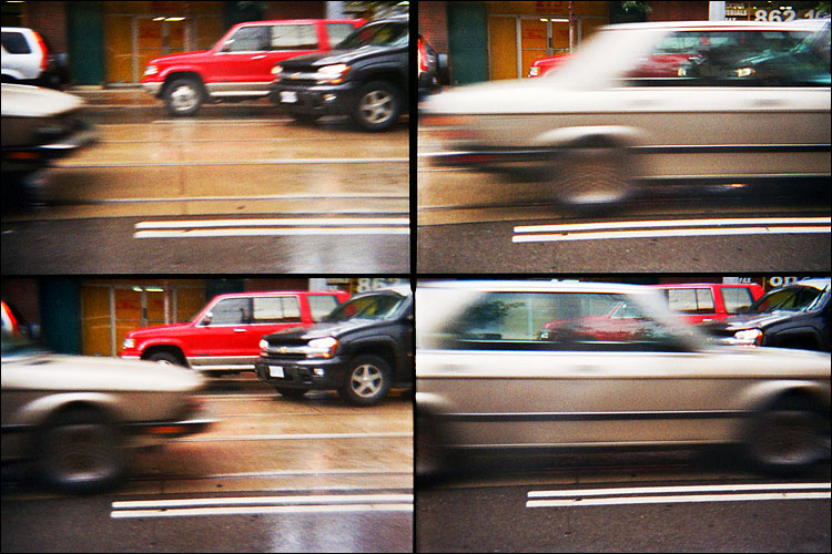 cars in motion || lomo action sampler | ISO 800