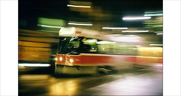 panning street car - ttc | lomo LC-A | ISO 100