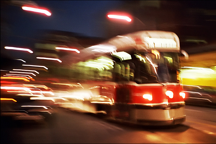 zooming streetcar  || lomo lc-a | ISO 200