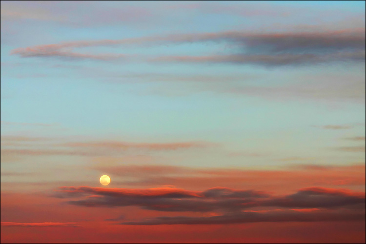 moon at sunset || canon 300d/ef-s 18-55 | 1/80s | f5.6 | ISO 100 | handheld