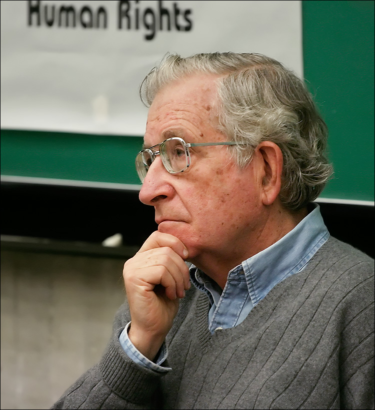 noam chomsky at york || canon 300d/ef L f4 70-200 | 1/50s | f4 | ISO 800