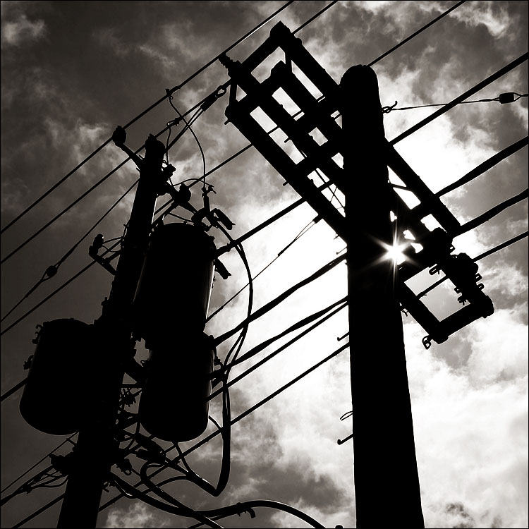 power pole silhouette || canon 300d | 1/400s | f11 | ISO 100