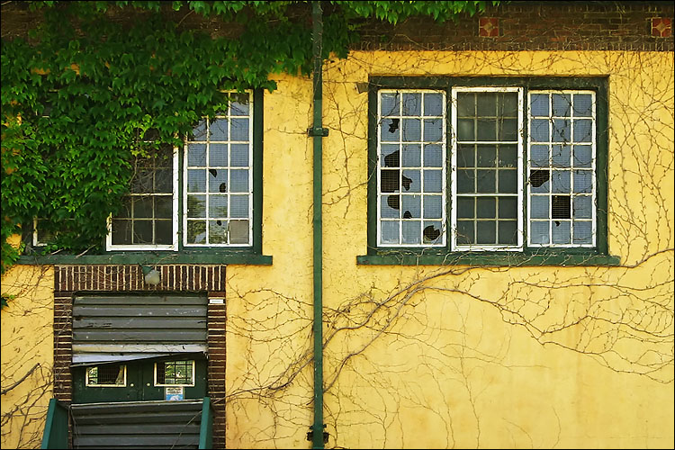 yellow wall, broken window || canon 300d/kit lens | 1/60s | f6.3 | ISO 100
