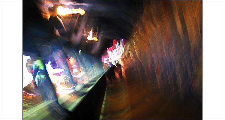 yonge swirly tunnel || Canon G3 | 1/2s | f2 | ISO 50